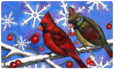 Birds-SnowFlakes
